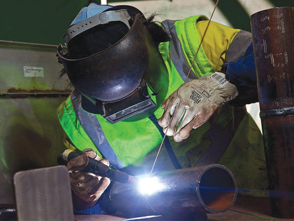 کیفیت-جوش--اجزا-فولادی-سازه-پارچه-ای