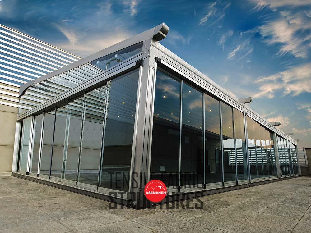 سقف-برقی-روف-گاردن-باشگاه-اکسیژن